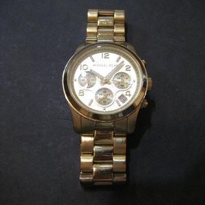 Michael Kors MK5055 Chronograph Goldtone Watch